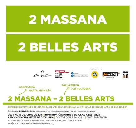 Cartel de la exposición de cerámica -2 Massana, 2 Belles Arts-, en la ACC