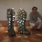 Pieza de cerámica de Ángel Garraza