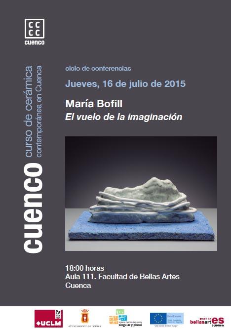 Cartel de la conferencia de Maria Bofill
