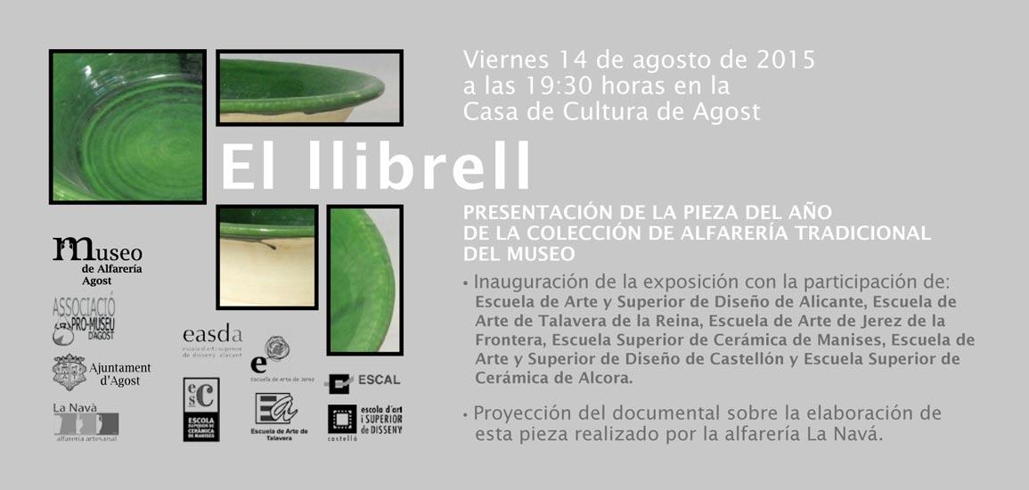 Invitación de la exposición -Lebrillo- n el Museo de Alfarería de Agost