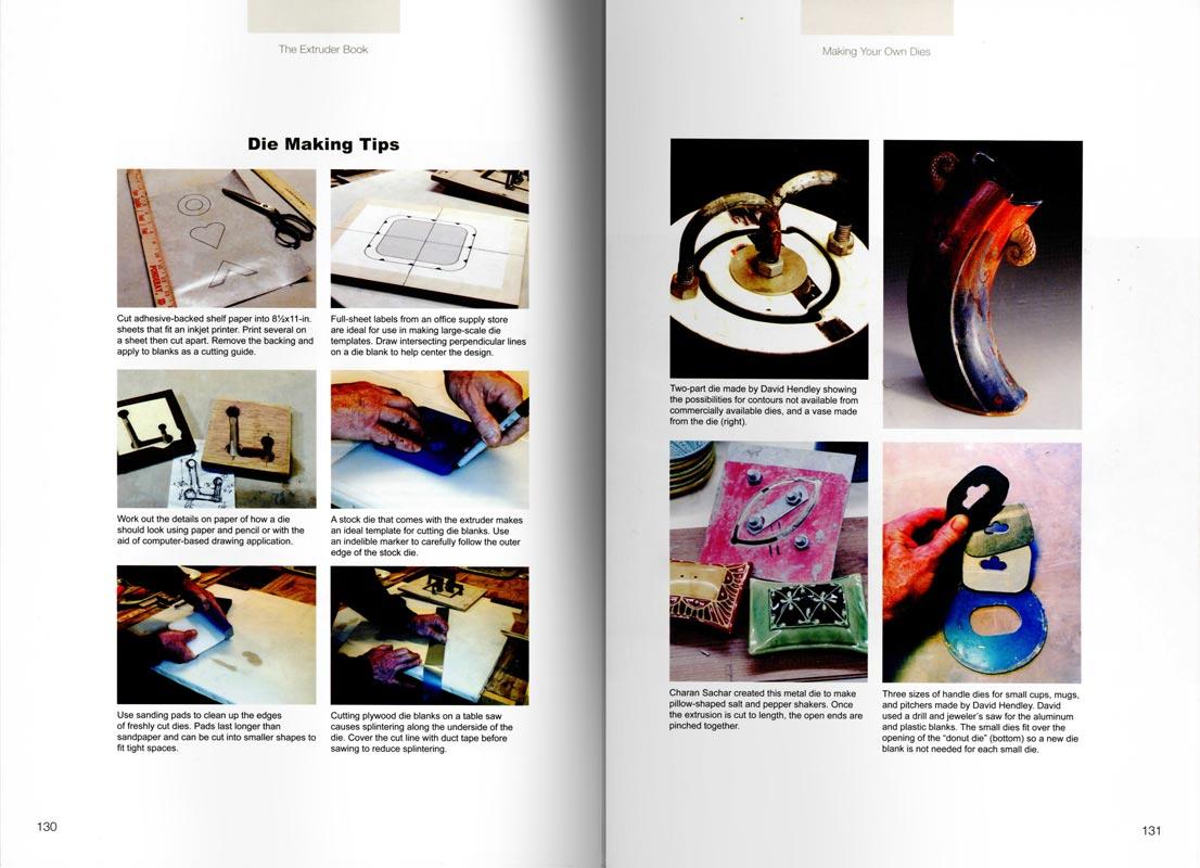 "Páginas interiores del libro -The Extruder Book"", de Daryl E. Baird"