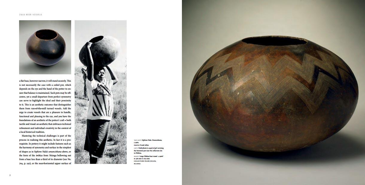 """Páginas interiores del libro -Zulu Beer Vessels"""""""