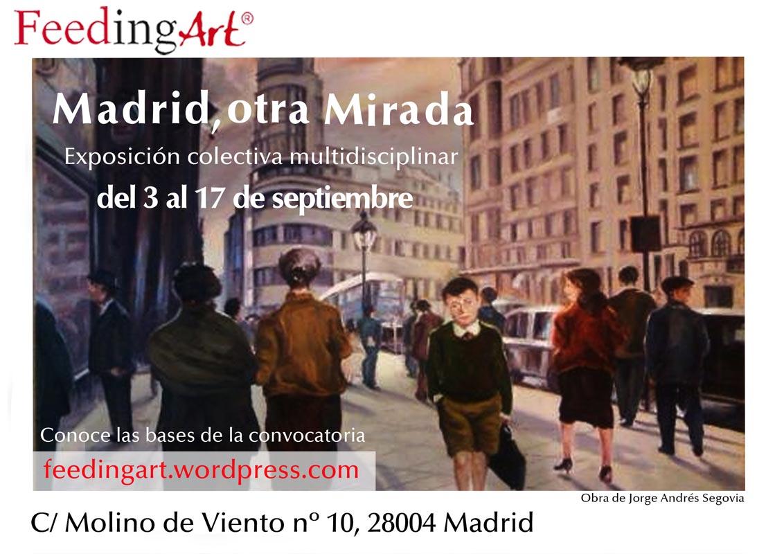 Cartel de la exposición en FeedingArt