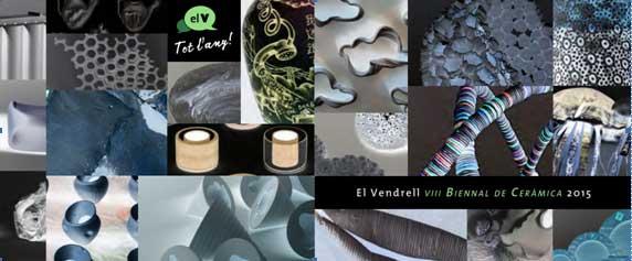 Cartel de la Biennal de Cerámica de El Vendrell 2105