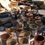 Piezas de cerámica de la feria de chile