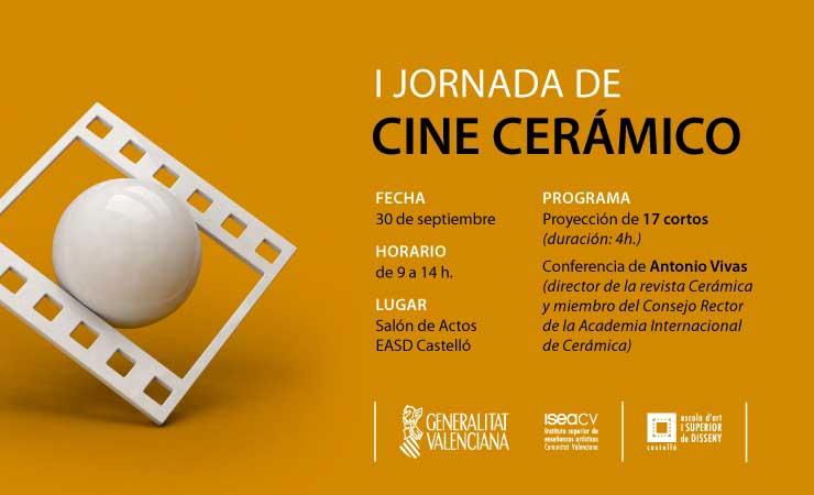 Cartel de la I Jornada de Cine Cerámico