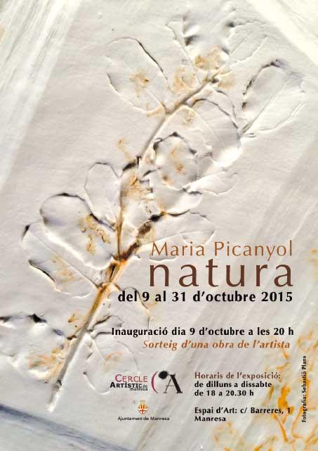 Cartel de la exposición de Maria Picanyol en Manresa