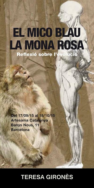 Cartel de la exposición de Teresa Gironés en Artesania Catalunya, Barcelona