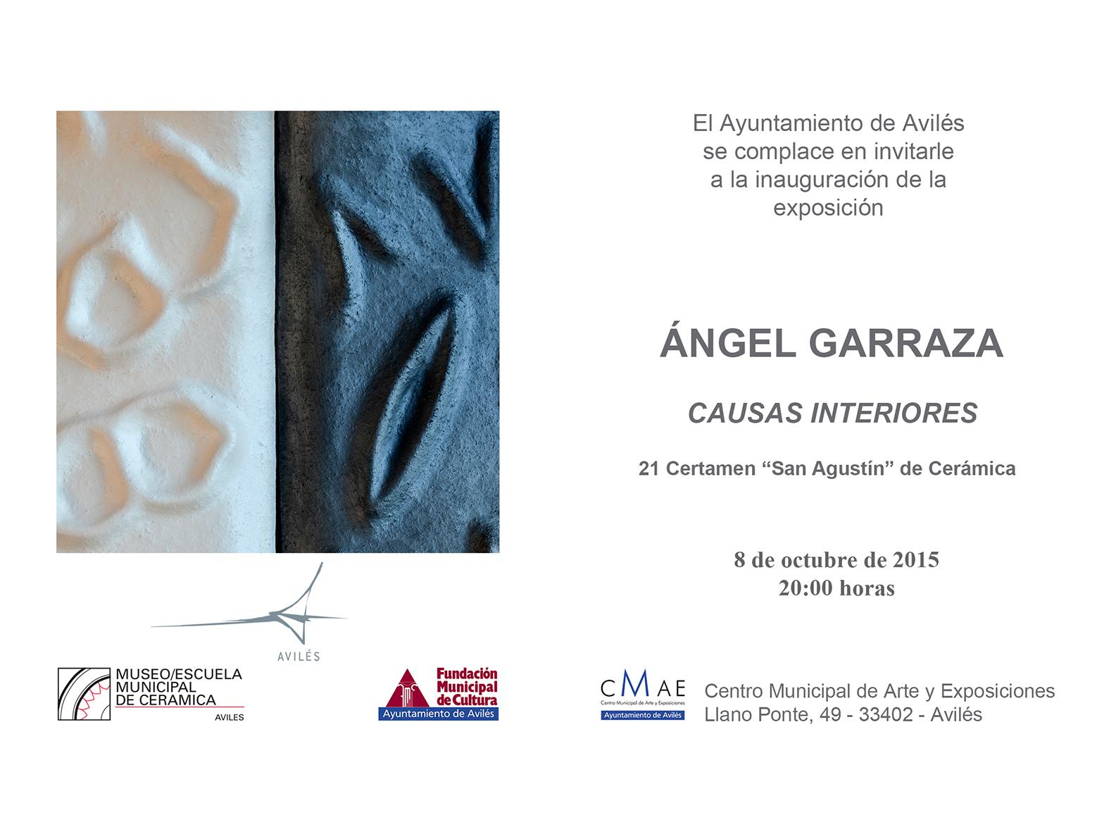 Cartel de la Exposición de Ángel Garraza en Avilés