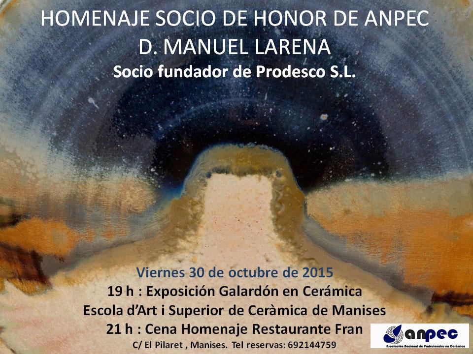 Cartel del homenaje a Manuel Larena