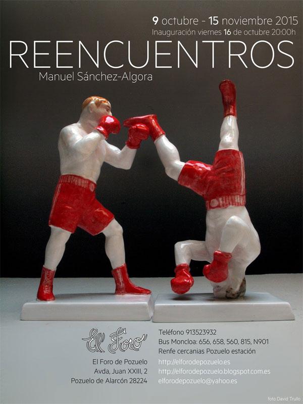 Cartel de la exposición de Manuel Sánchez Algora