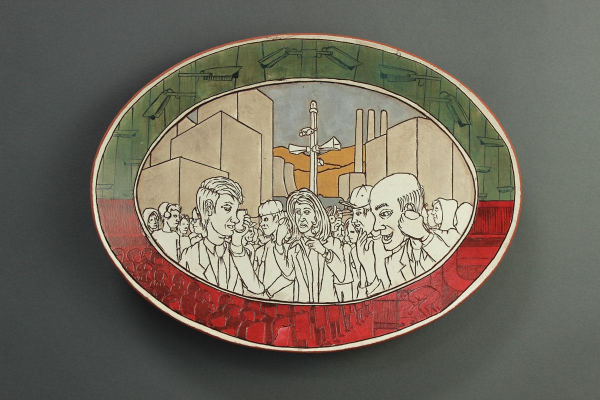 Pieza de cerámica de Cameron Crawford