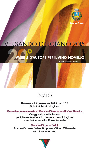 Cartel del evento -Versando Torgiano 2015-