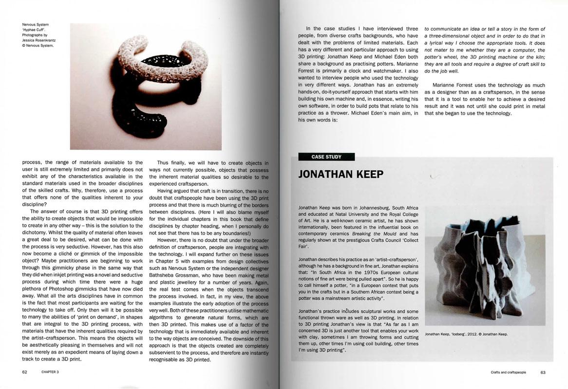 Páginas interiores del libro 3D Printing