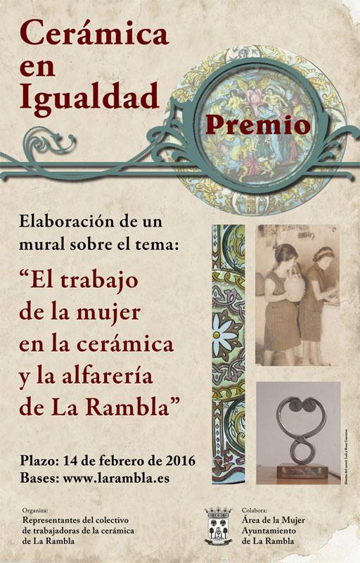 Cartel del Concurso cerámica en igualdad, de La Rambla, Córdoba