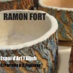 Cartel de la exposición de cerámica de Ramón Fort
