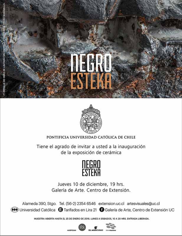 Cartel de la exposición -Negro-Esteka-