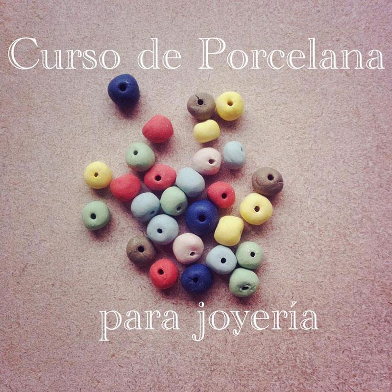 Cartel del curso de porcelana para joyeería