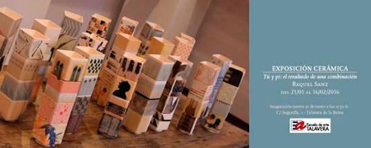 Cartel de la exposición de cerámica de Eaquel Sanz