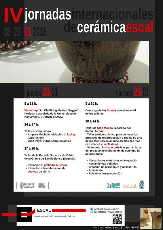 Cartel de lasa Jornadas Internacionales de Cerámica de la Alcora