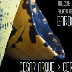 Cartel de la exposición de cerámica de César Arqué