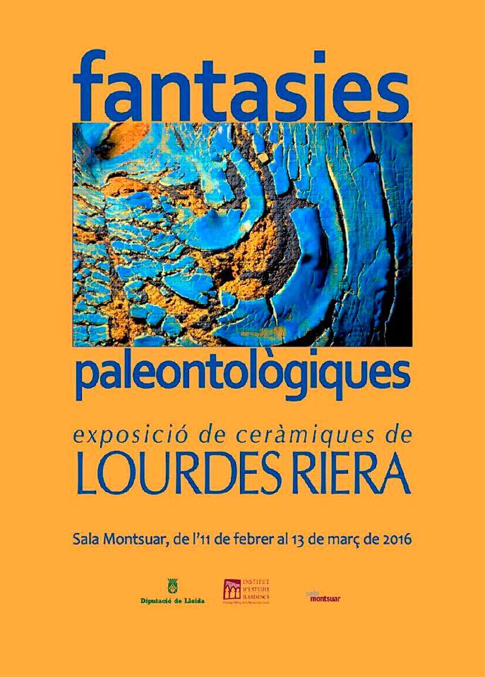 Cartel de la exposición de Lourdes Riera