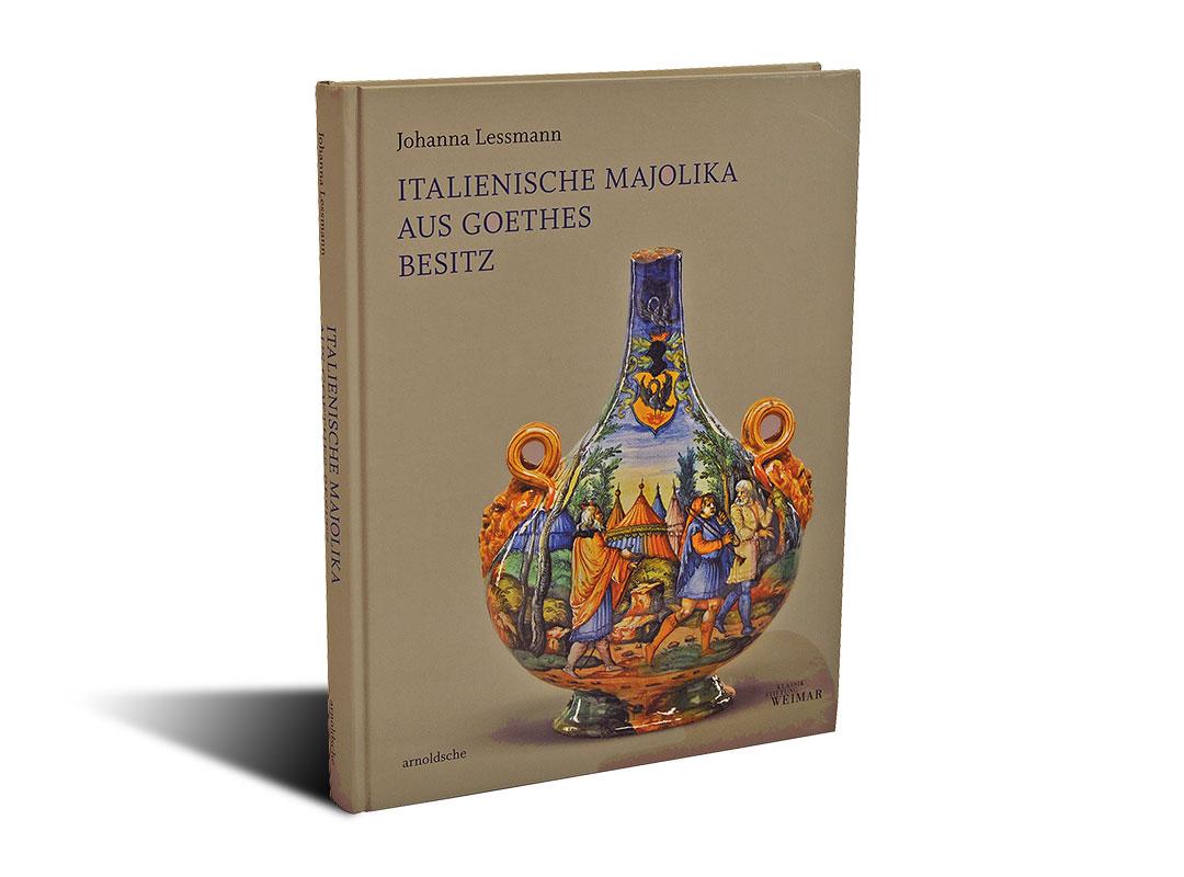 Portada del libro Italienische Majolika aus Goethes Besitz
