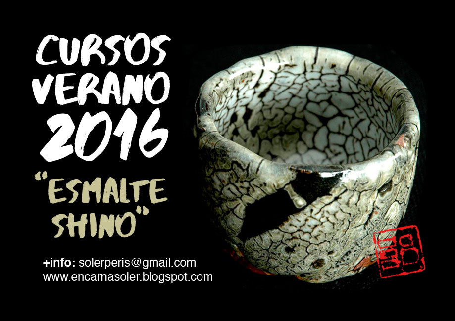 Cartel del curso de cerámica de Encarna Soler