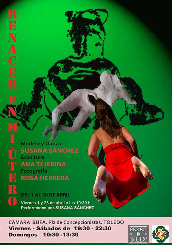 Cartel de la exposición de Ana Tejerina