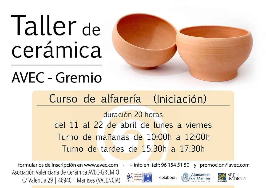 Cartel de los cursos de AVEC-Gremio, Valencia