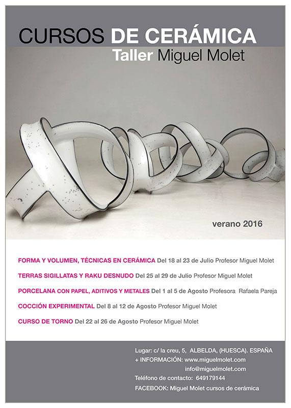 cartel de los cursos de Miguel Molet