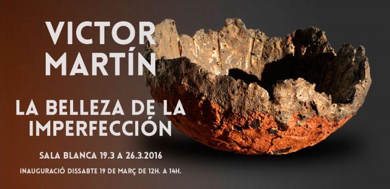 cartel de la exposición de Víctor Martín