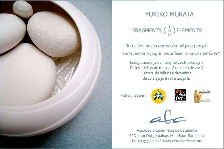 Invitación de la exposición de Yukiko Murata