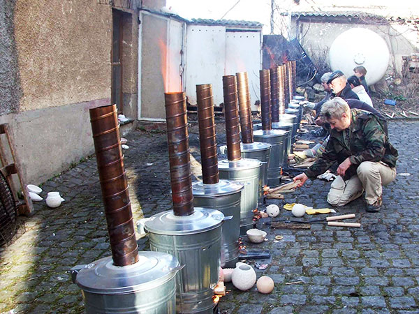 Construcción de hornos para rakú
