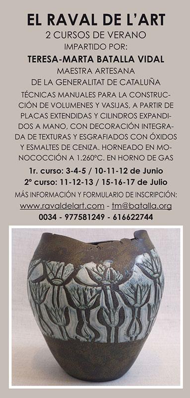 Cartel de los cursos de Teresa-Marta Batalla