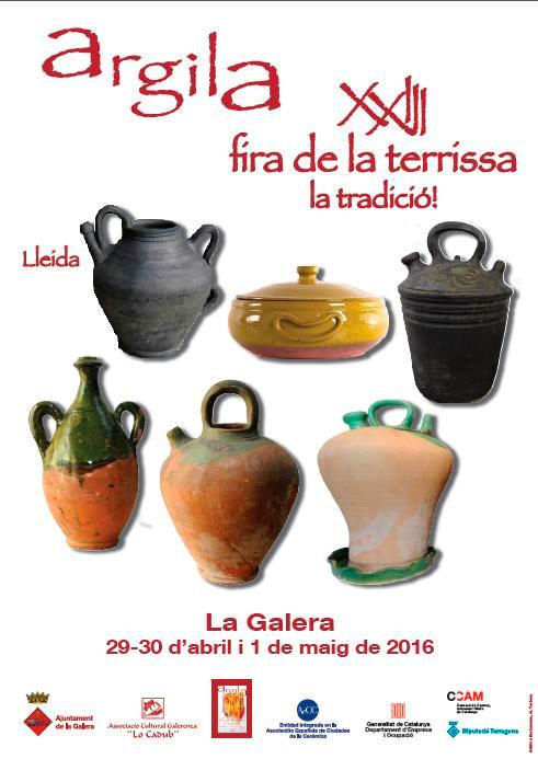 Cartel de la feria de alfarería y cerámica de La Galera