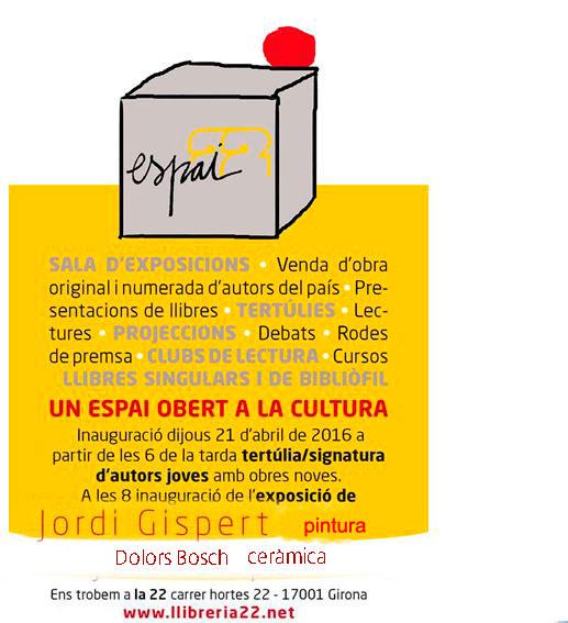 Cartel de la exposición de cerámica de Dolors Bosch