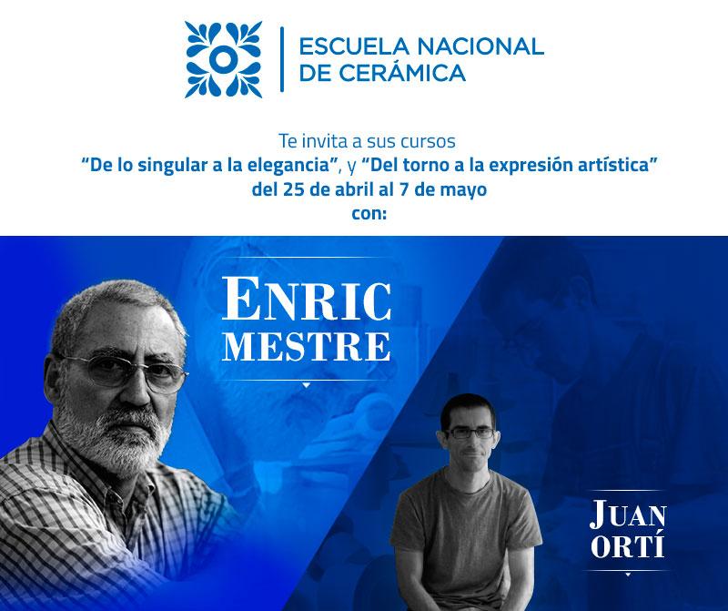 cartel de los cursos de Enric Mestre y Juan Ortí