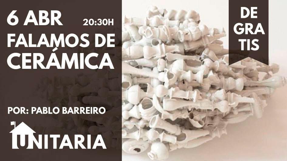 Cartel del evento Falemos de ceramica