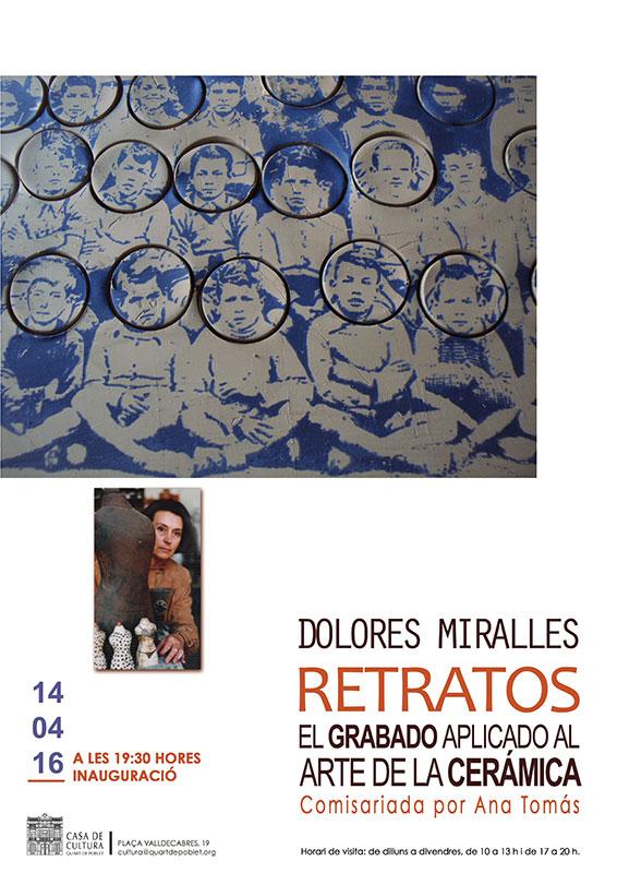 cartel de la exposición de Lola Miralles