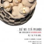 Cartel de la exposición de Rayaduradesandía