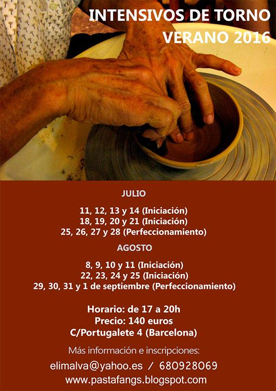 Cartel de los cursos de verano de Eli Moretó