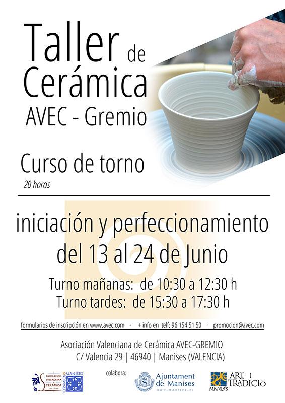 Cursos de torno en avec gremio for Curso de ceramica madrid