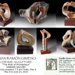 Escultura cerámica de Juan Ramón Gimoneo