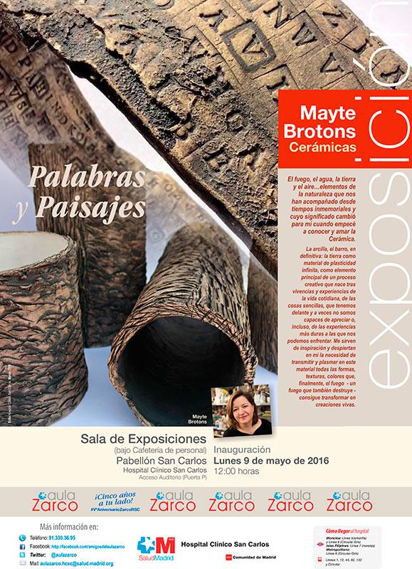 Cartel de la exposición de Mayte Brotons