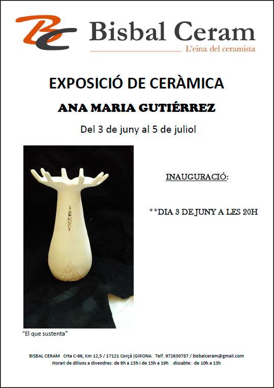 Cartel de la exposición de Ana María Gutiérrez