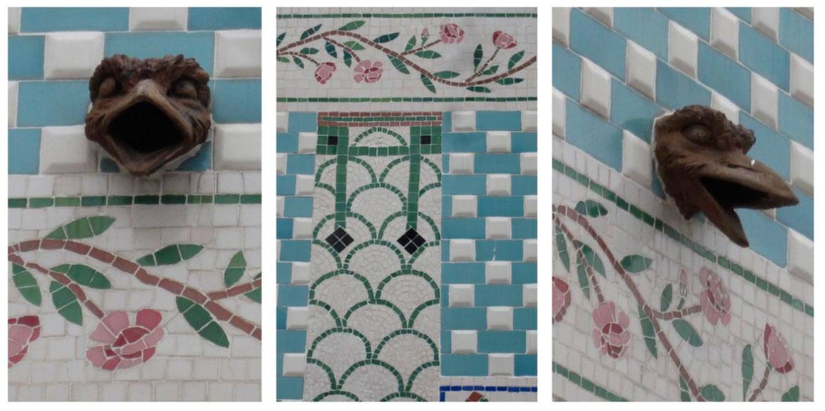 Foto de cerámica arquitectónica del Cabanyal de Valencia