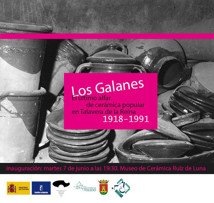 cartel de la exposición -Los Galanes-