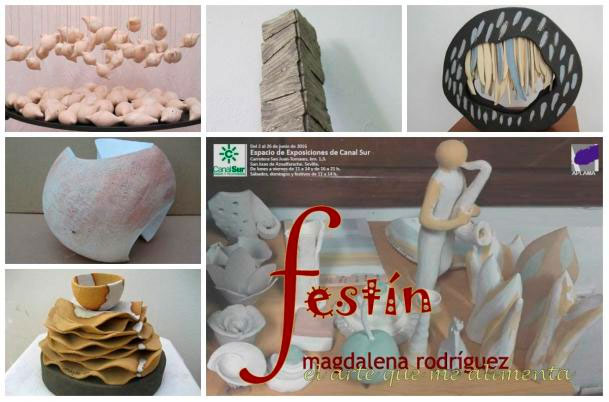 Cartel de la exposición de Magdalena Rodríguez