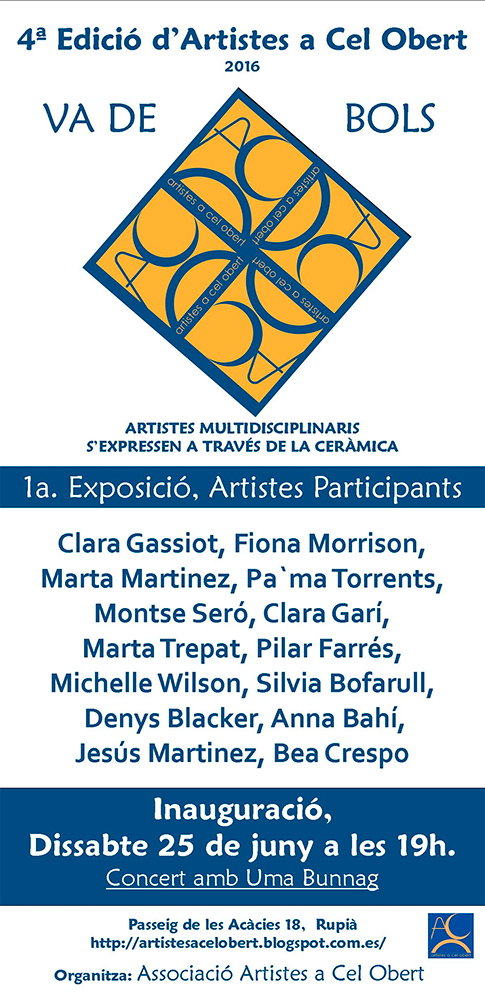 Cartel de la exposición -Artistes a cel obert-